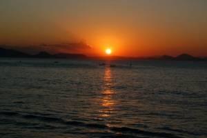 flottielje zeilen lefkas zonsondergang