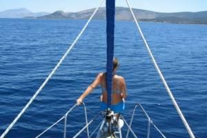 flottielje zeilen lefkas voorpiek