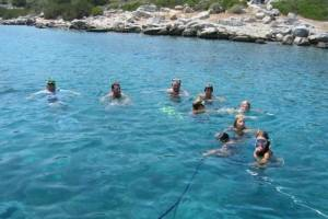flottielje-zeilen-lefkas-zwemmen