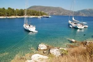 Zeilen Griekenland voor anker
