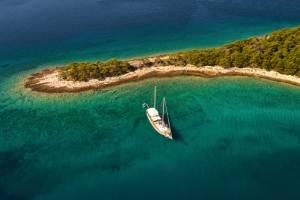 zeilen met gulet in kroatie