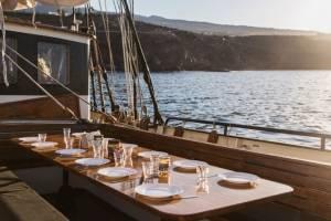 meezeilen canarische eilanden eten buiten