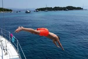 flottielje zeilen kroatië zwemmen
