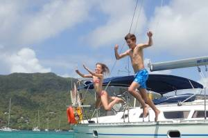 flottielje zeilen met kinderen